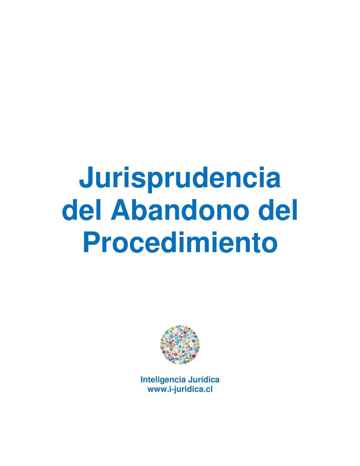 Calaméo - Jurisprudencia Del Abandono Del Procedimiento