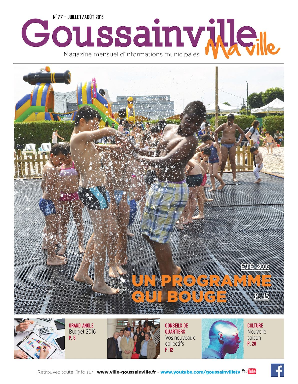 Calam o goussainville ma ville n 77 juillet ao t 2016 for Piscine de goussainville