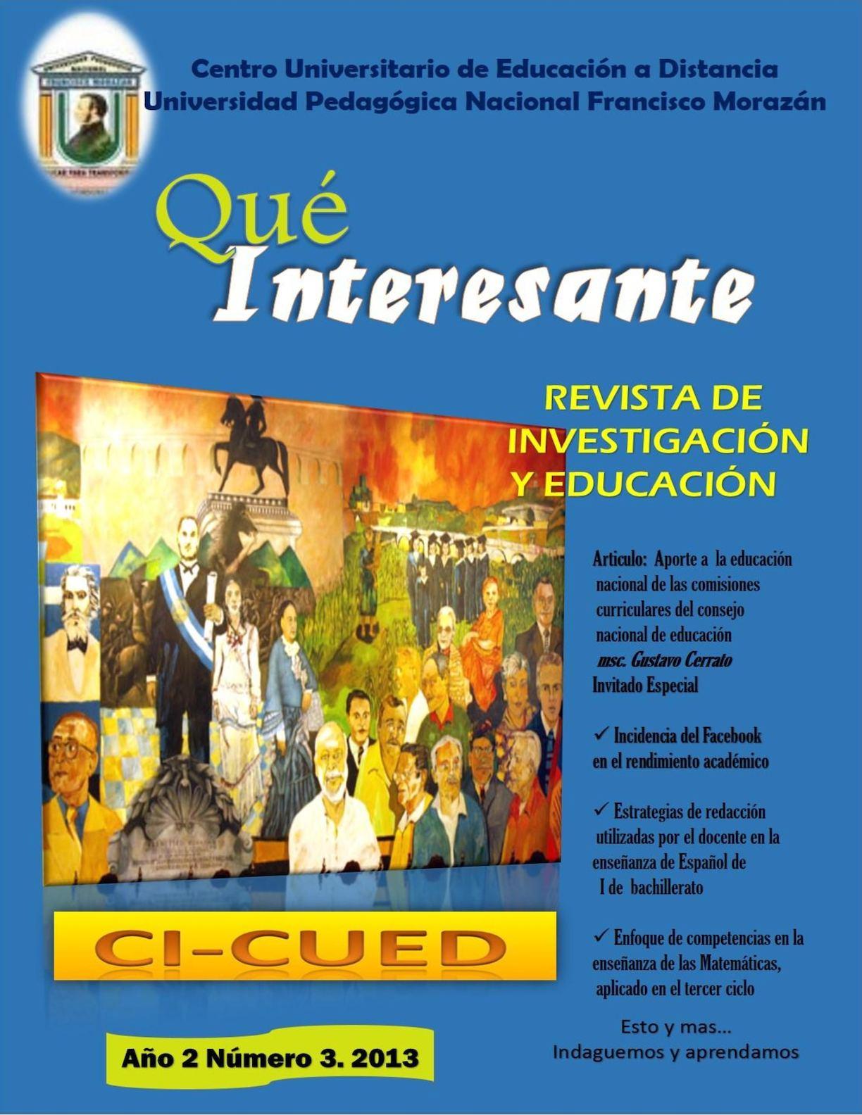 Calaméo - Qué Interesante Año 2. Número 3. 2013 CUED UPNEF