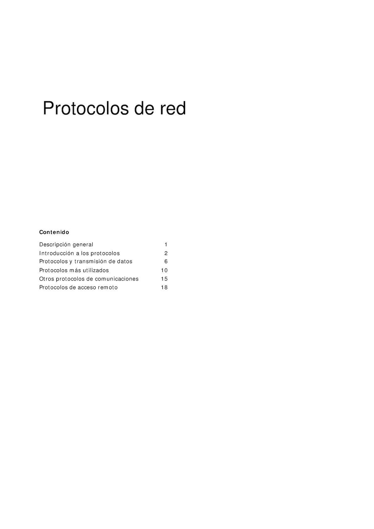 3 Protocolos De Red