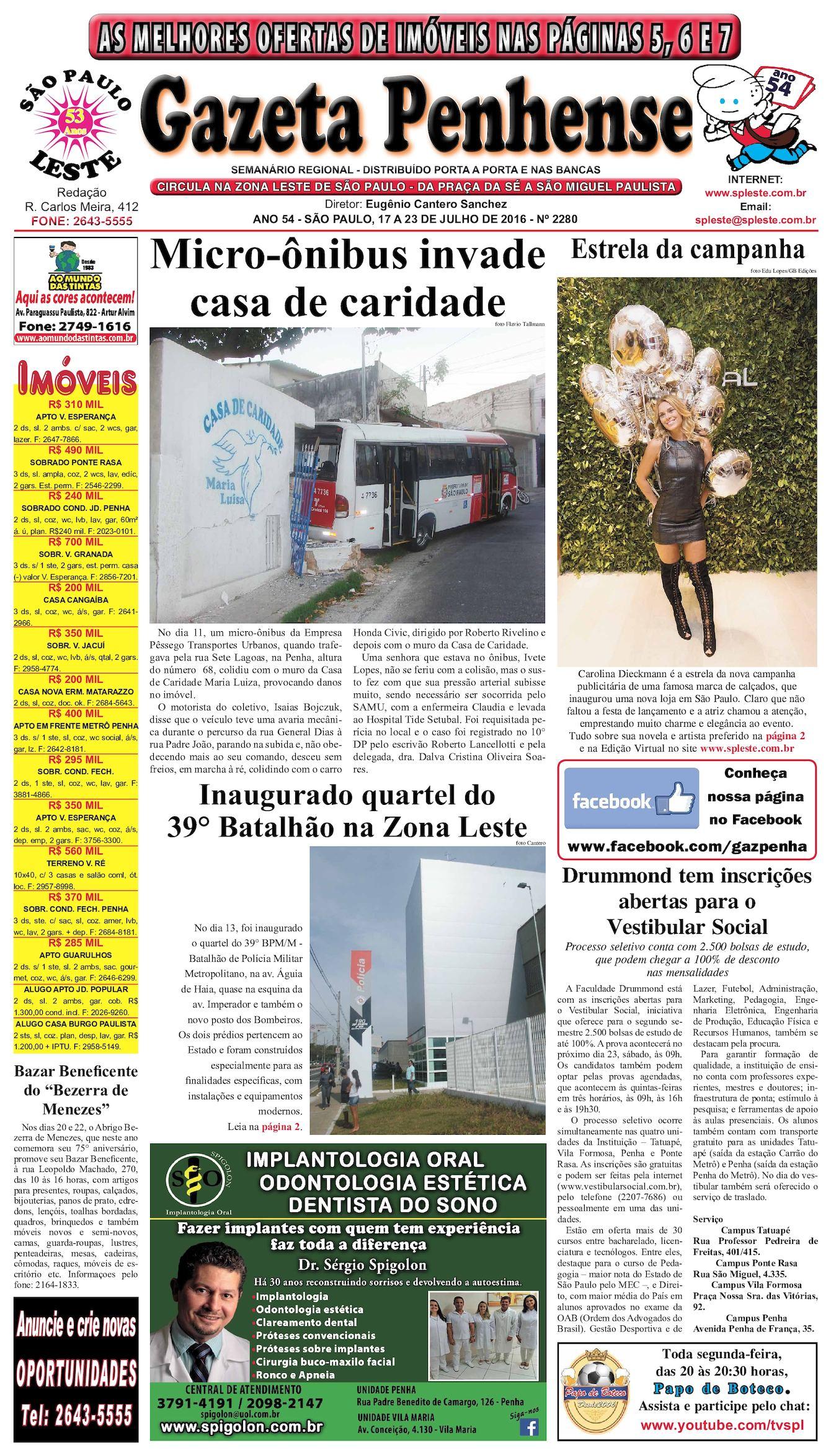 22c3bf76ede6b Calaméo - Gazeta Penhense - edição2280 - 17 a 23.07.16