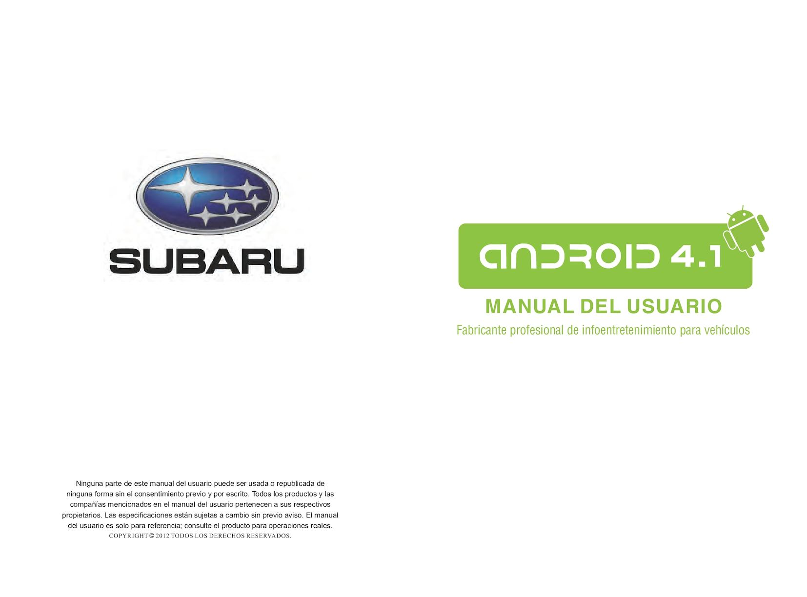 Calaméo - Subaru Android 4 1 Spanish