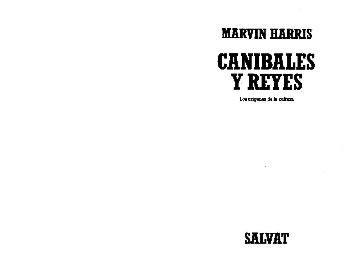 Calaméo - Canibales Y Reyes - Marvin Harris