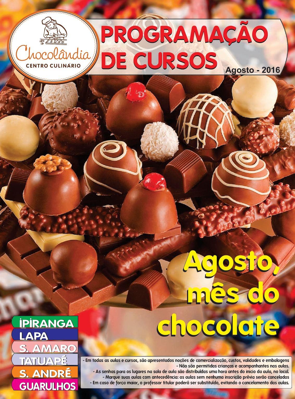 calaméo programação de cursos chocolândia904 Chocolandia Santo Amaro Cursos #16