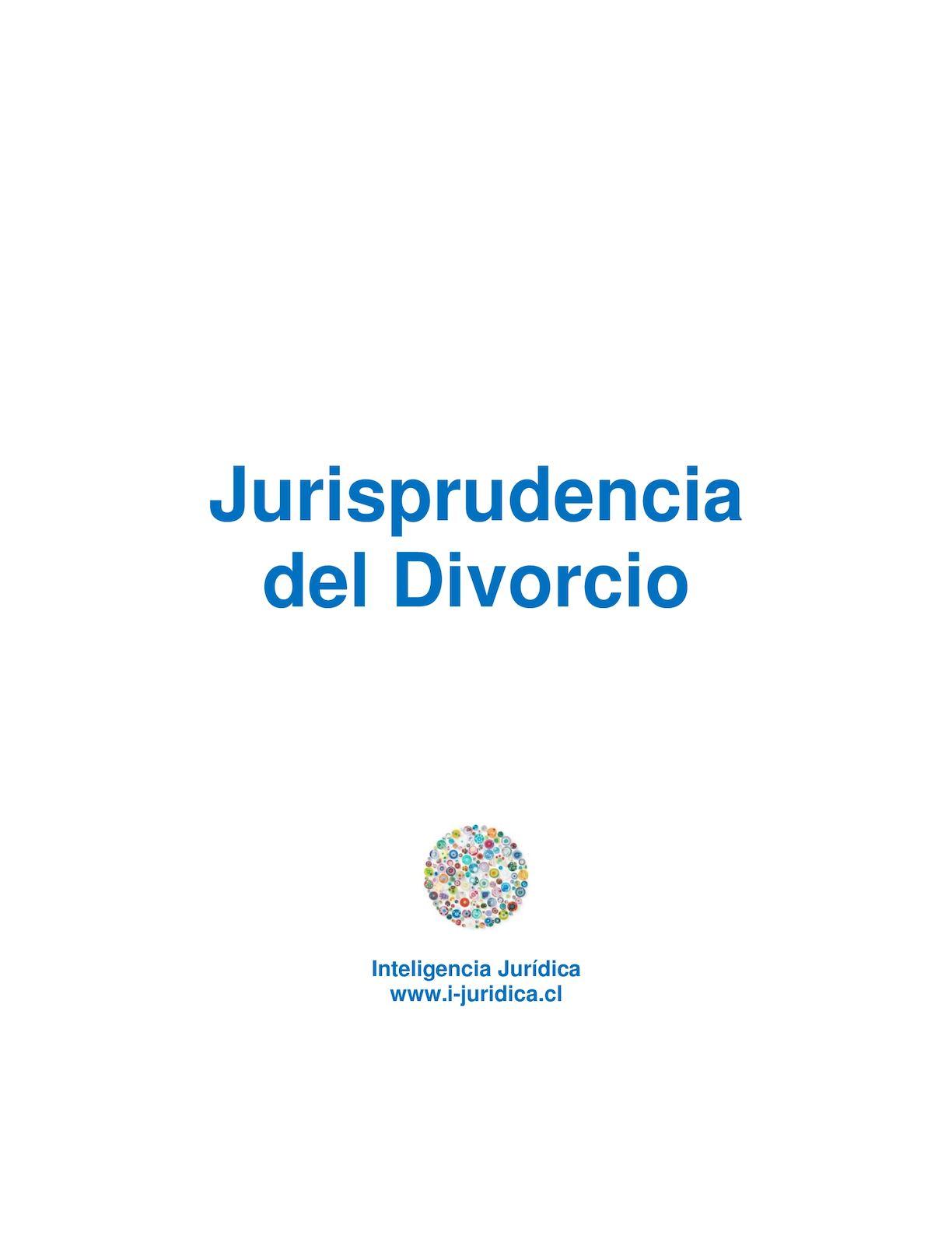Calaméo - Jurisprudencia Divorcio