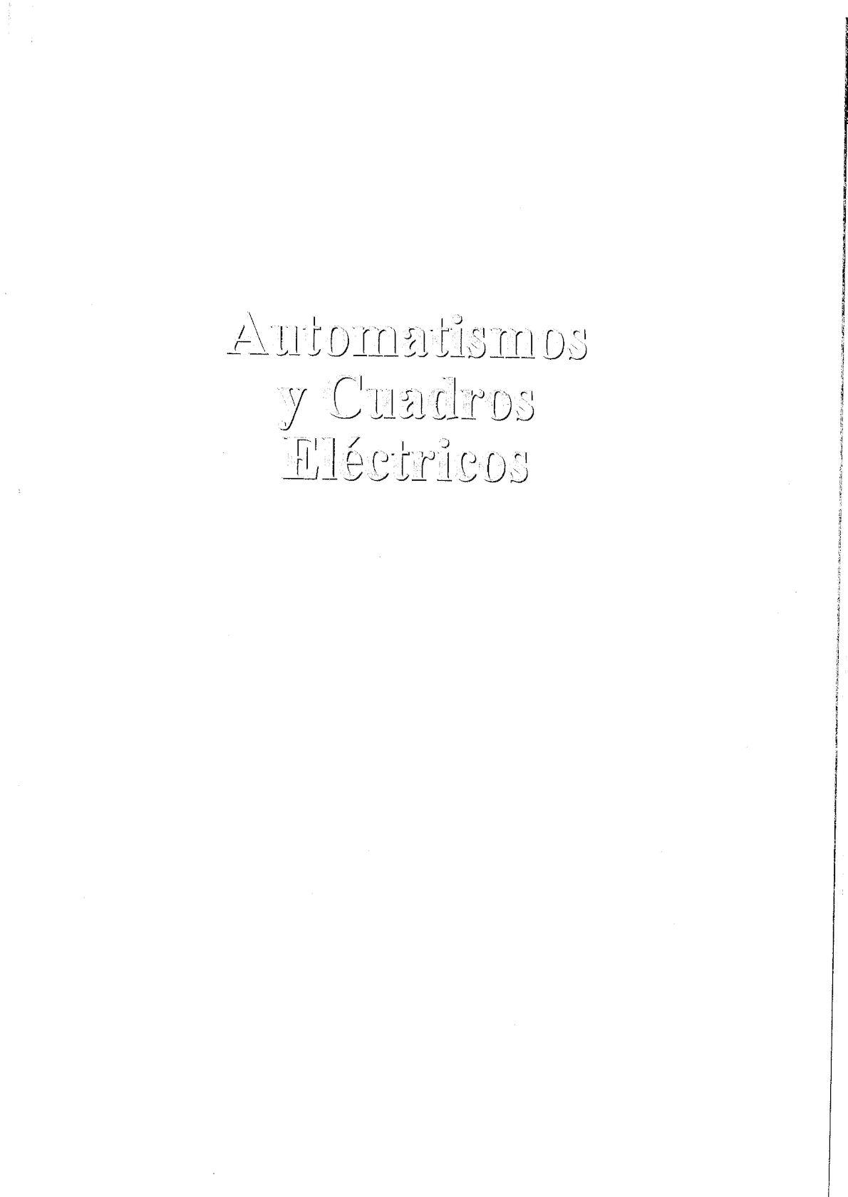 AUTOMATISMOS Y CUADROS ELECTRICOS - VAF