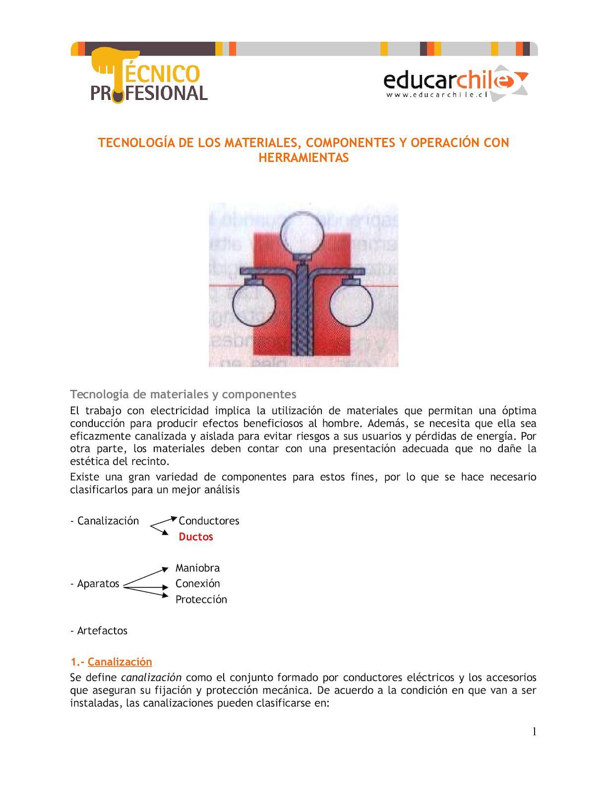 Circuito Unilineal : Calaméo tecnologia de los materiales componentes y operacion con he