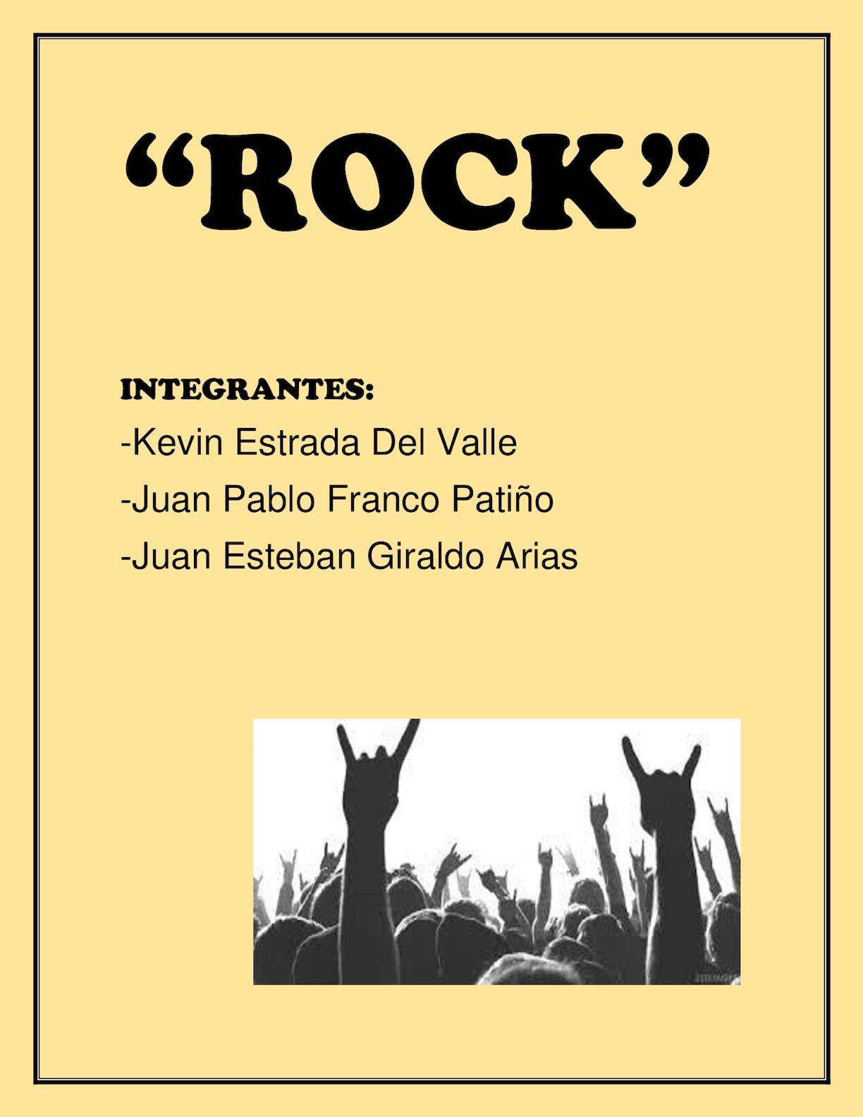 """English Work """"Rock Music"""""""