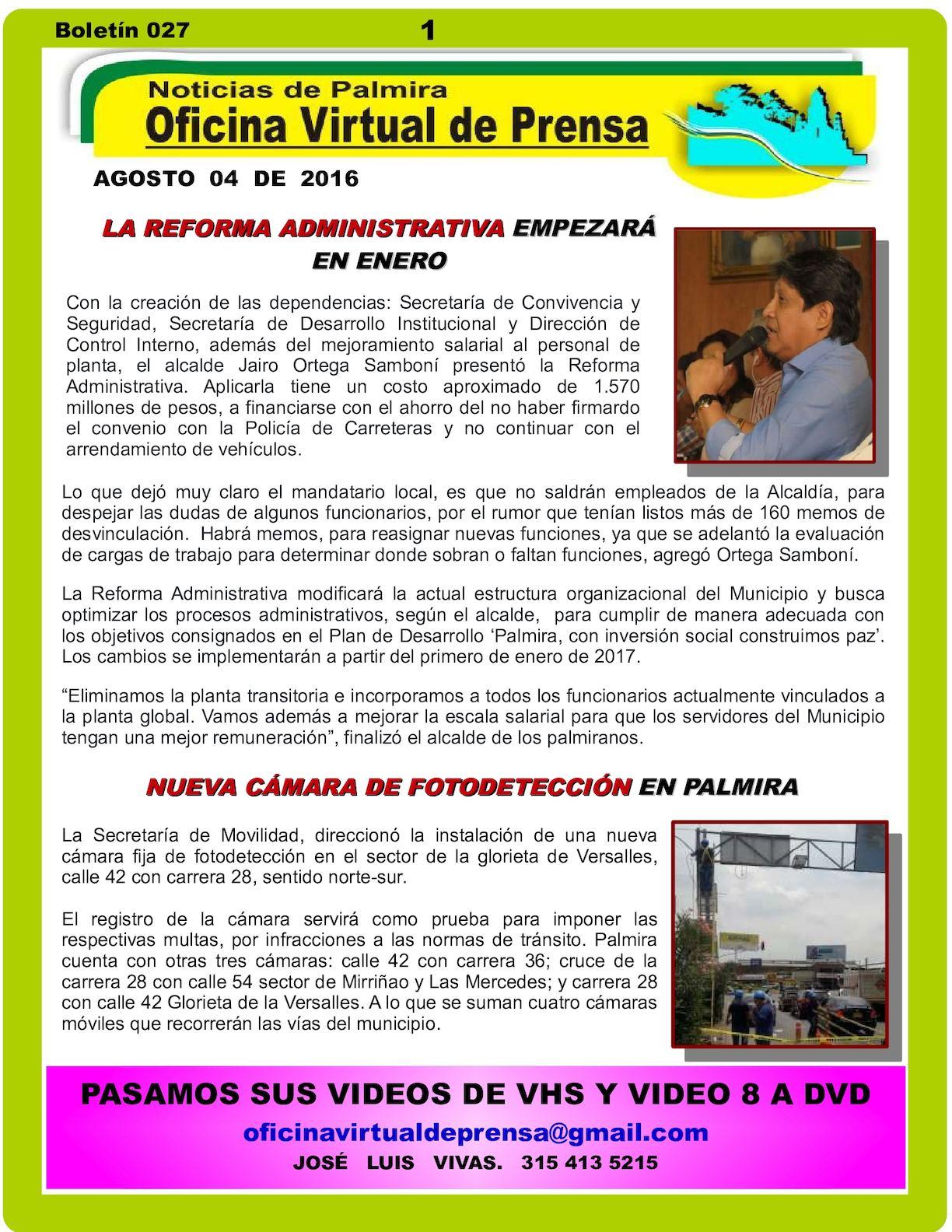 Calaméo - NUEVA REFORMA ADMINISTRATIVA EN PALMIRA, SE APLICARÁ EN ...