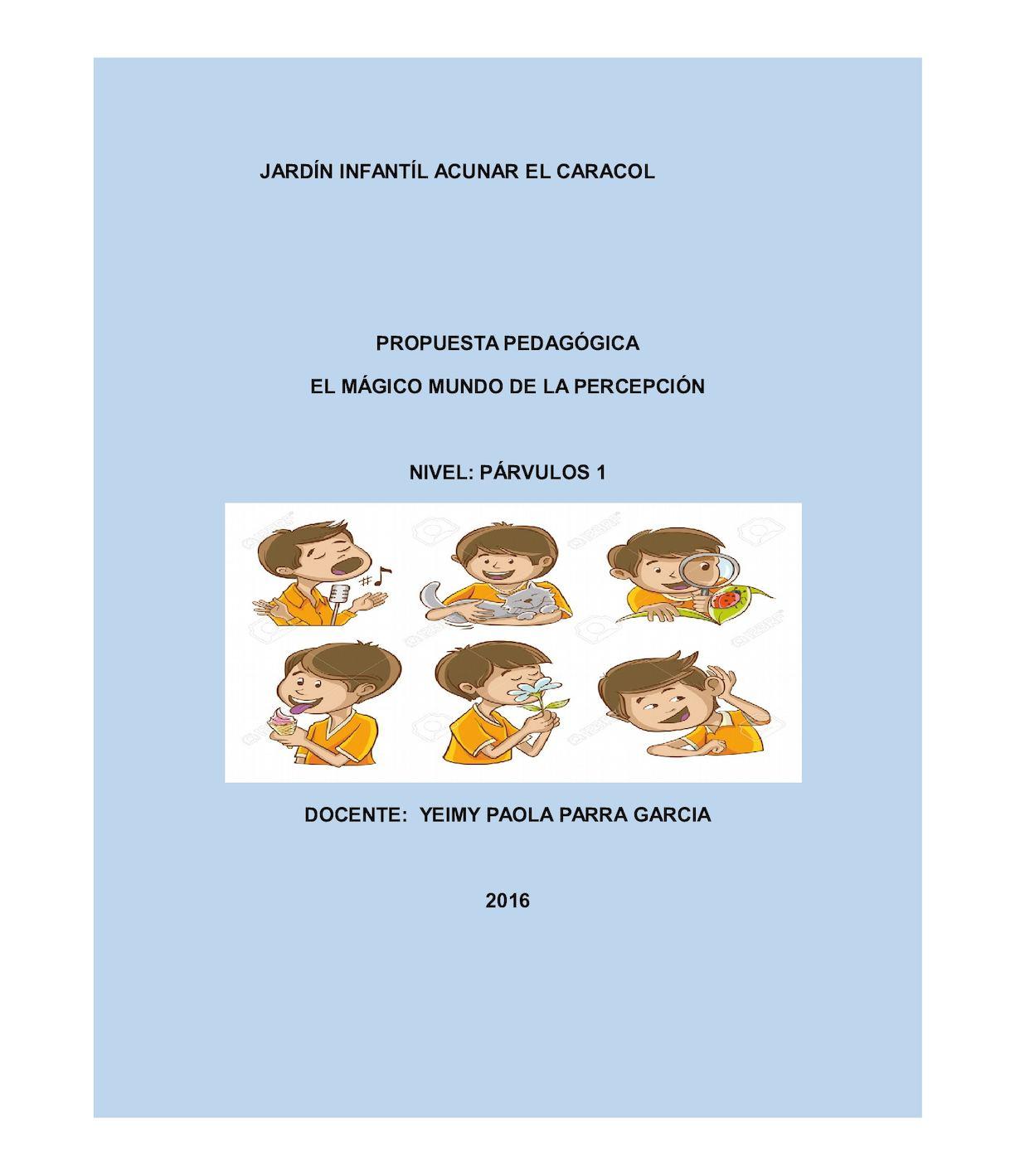 Proyecto Pedagogico 2016