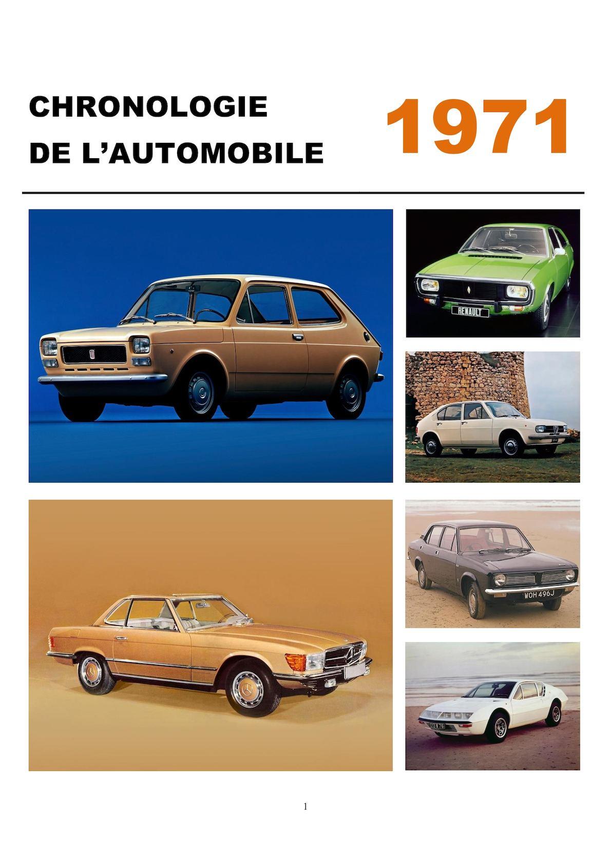 Chronologie de l'automobile - 1971