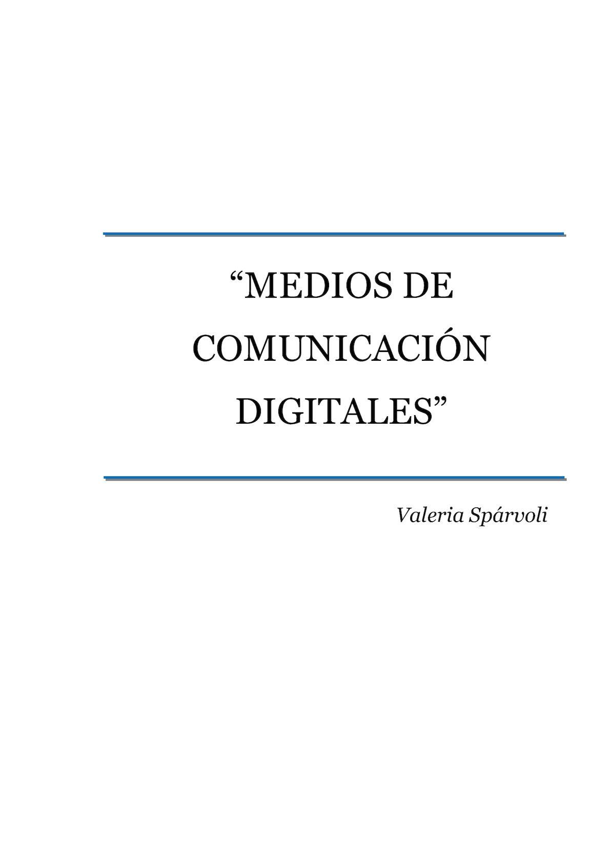Calaméo - MONOGRAFÍA MEDIOS DE COMUNICACIÓN DIGITALES