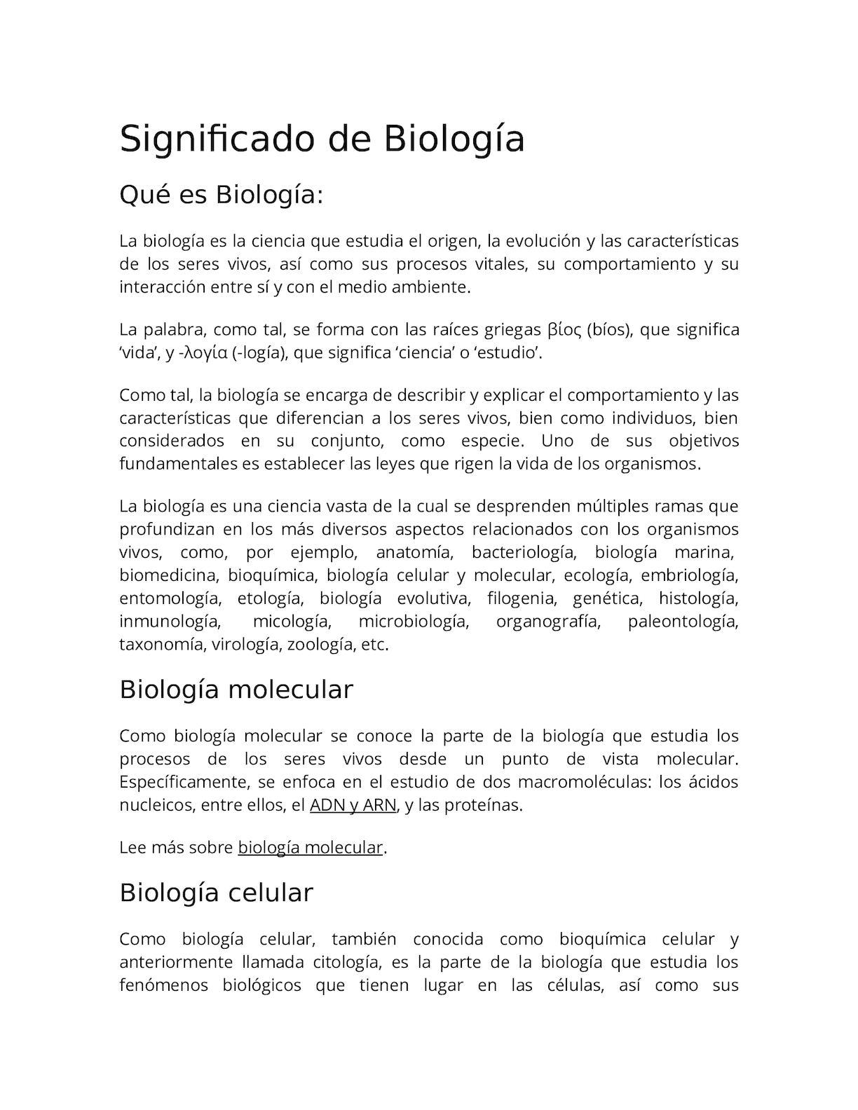Calaméo - Significado De Biología