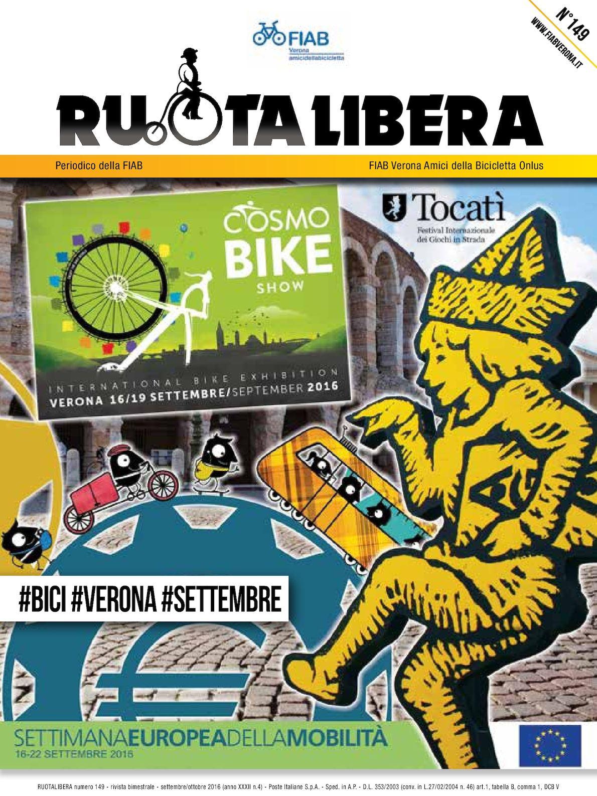 Ruotalibera 149 (agosto-ottobre 2016) - FIAB Verona - AdB