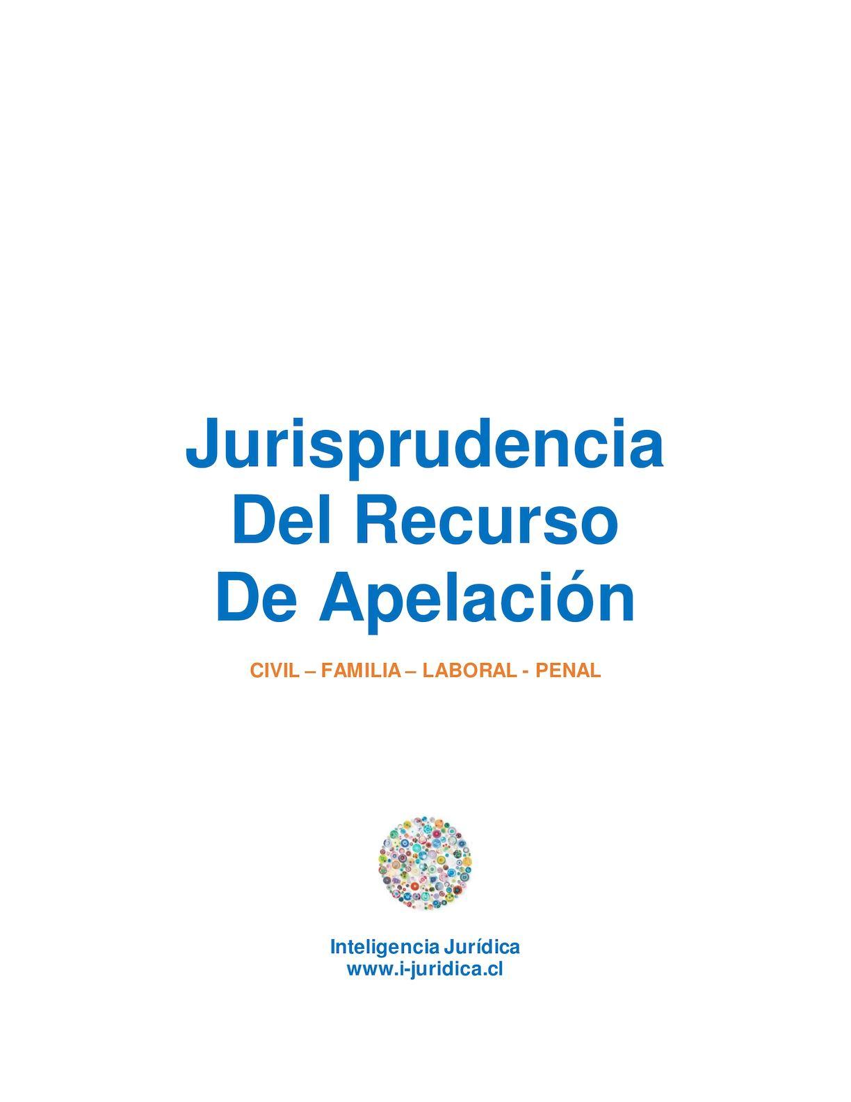 Jurisprudencia Recurso De Apelación