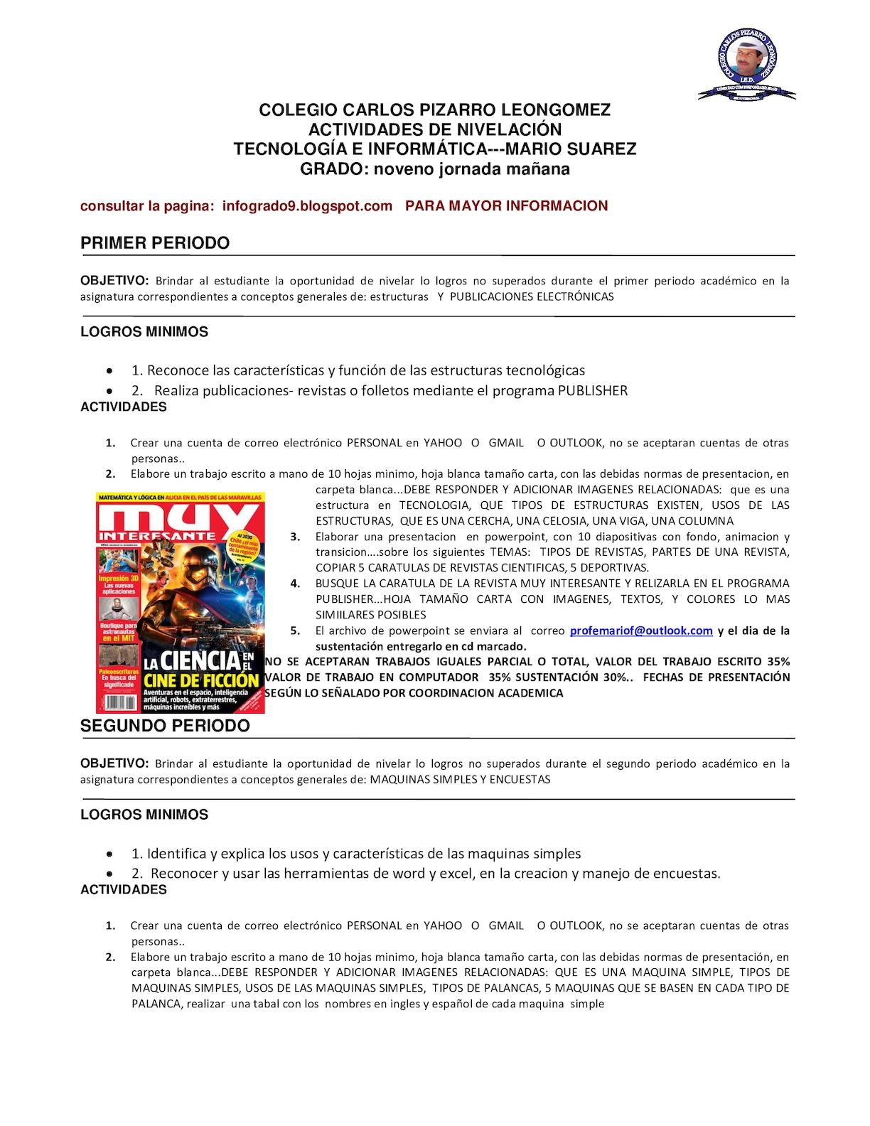 Calaméo - NIVELACIONES TECNOLOGIA E INFORMATICA GRADO 9