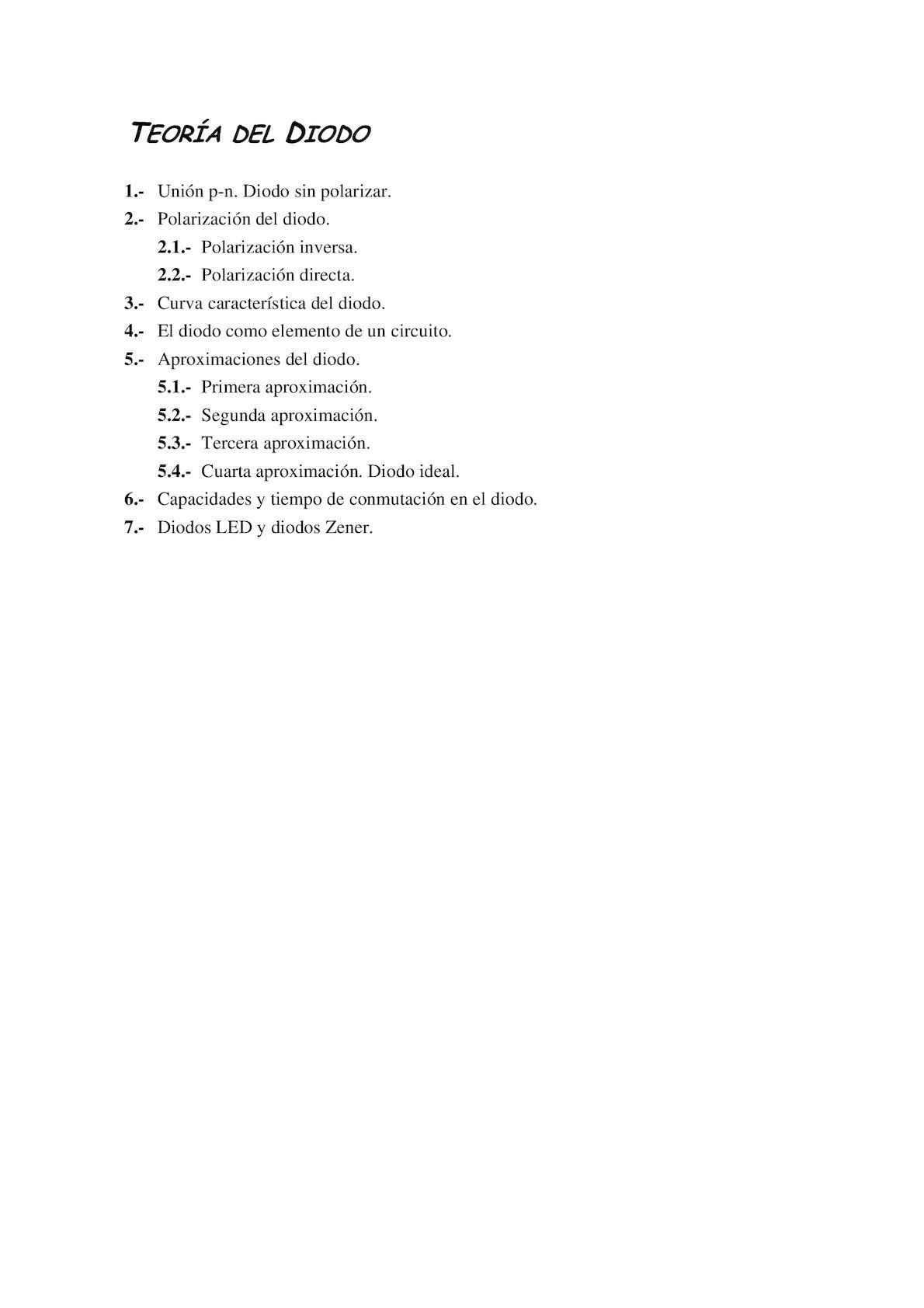 Circuito Zener : Calaméo teoria del diodo