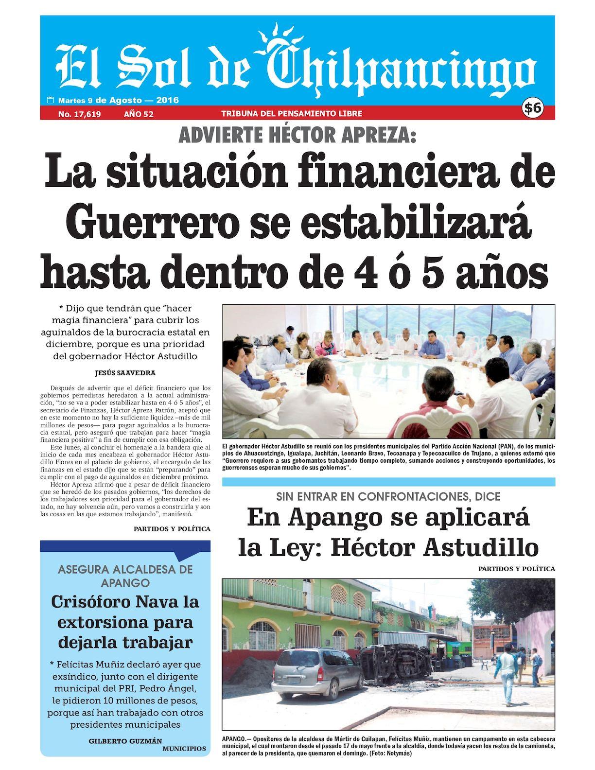 Calaméo - El Sol De Chilpancingo - 09 Agosto 2016