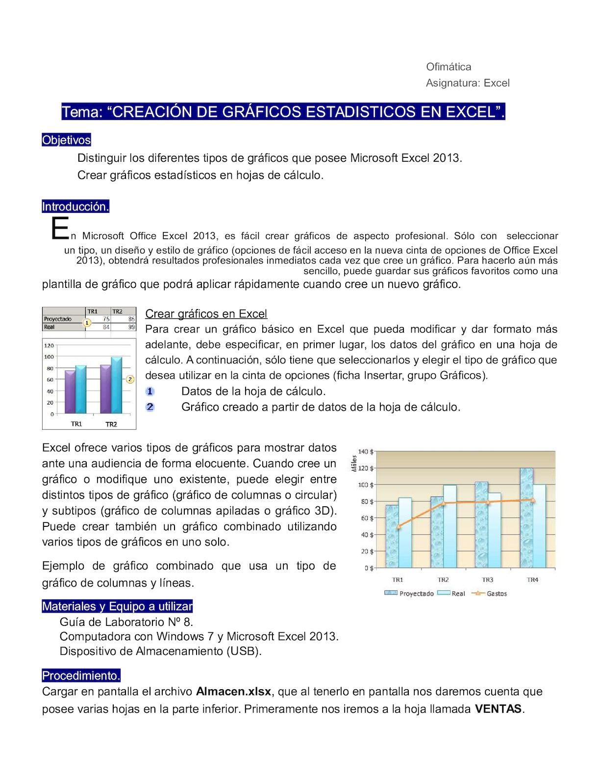 Calaméo - Grafico En Excel Teoria Y Practica