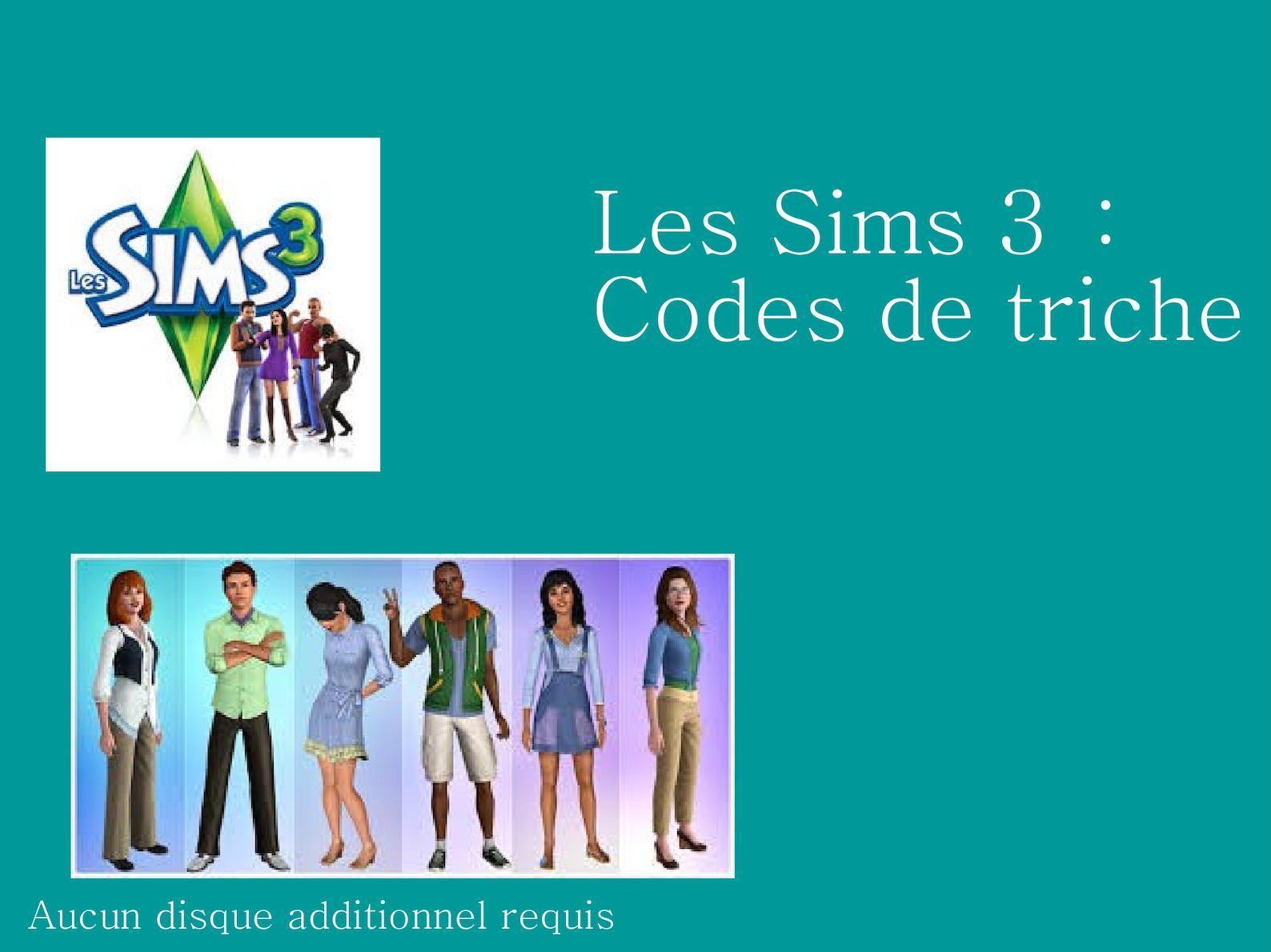 Calaméo - Les Sims 3 : codes de triche