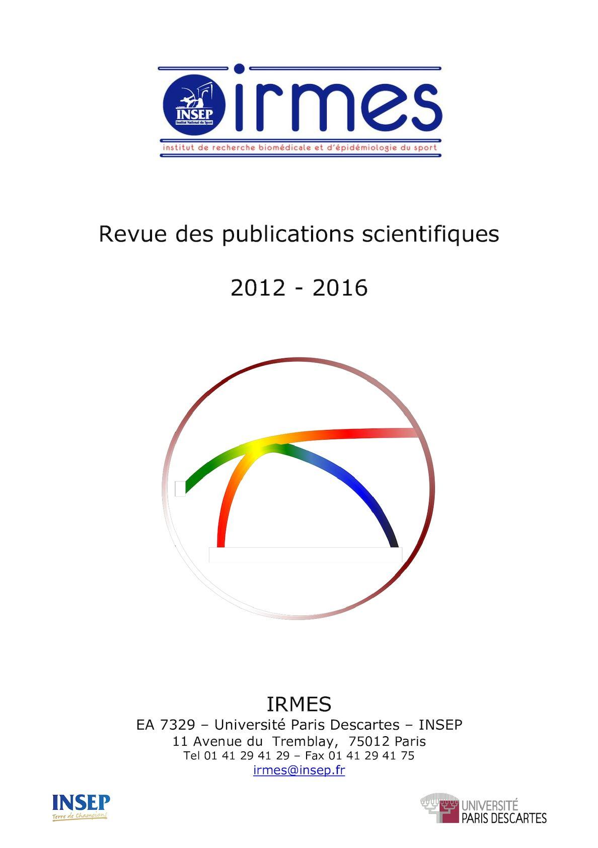 Calaméo Revue Des Publications Scientifiques 2012 2016 Irmes