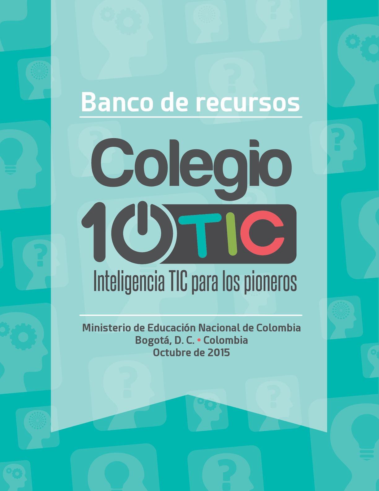 Anexo 40 Cartilla Colegio 10 Tic