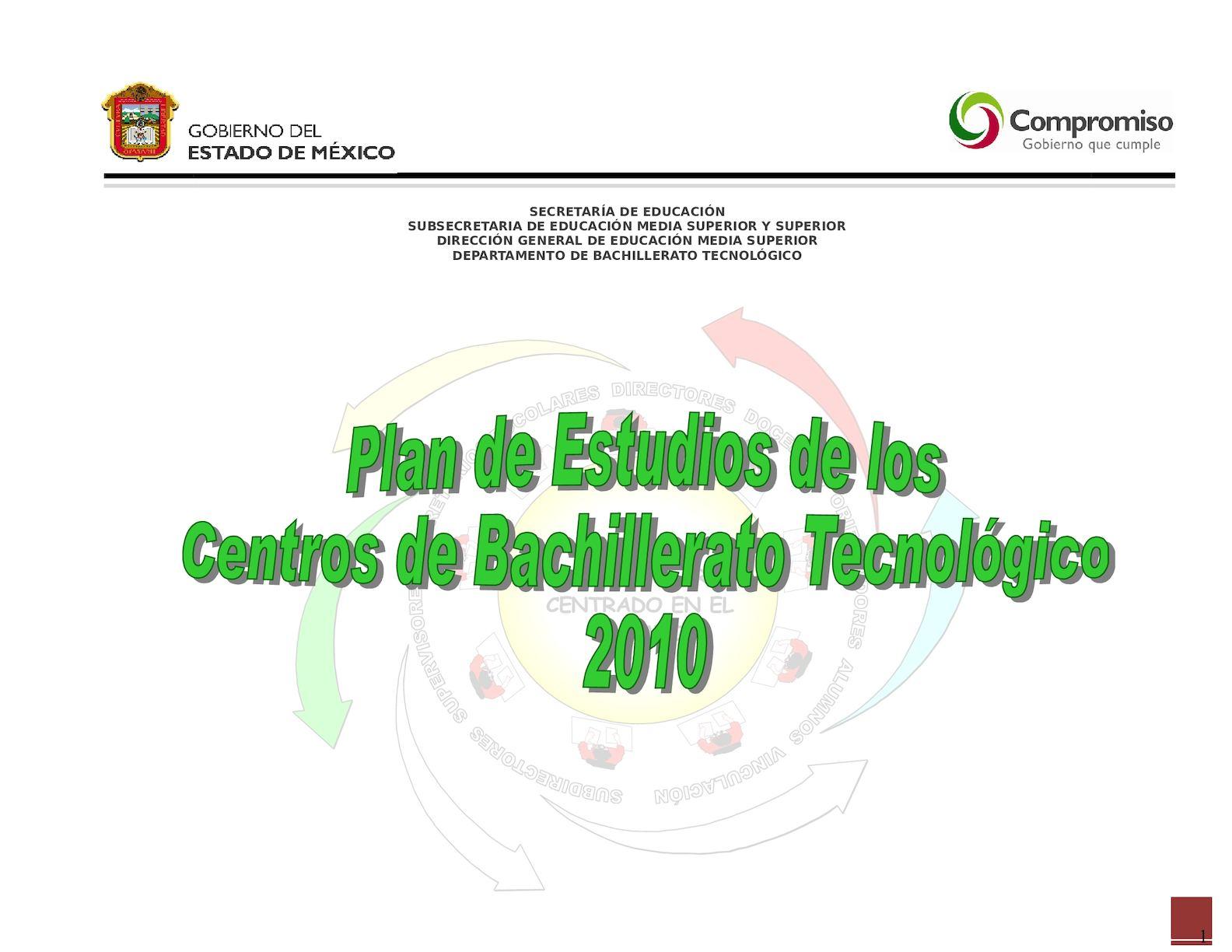 Calaméo - PLANES Y PROGRAMAS DE ESTUDIO DE BACHILLERATO TECNOLOGICO