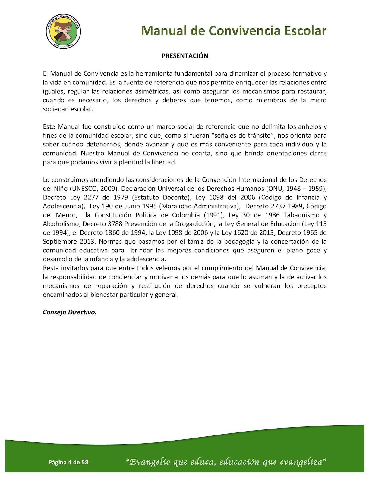 Manual De Convivencia Escolar 2016 2017 - CALAMEO Downloader