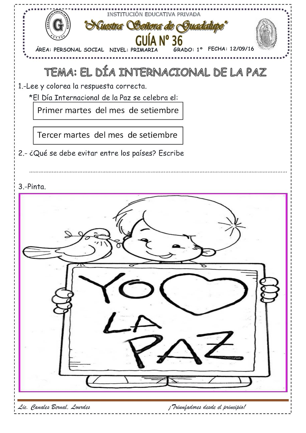 El Día Internacional De La Paz