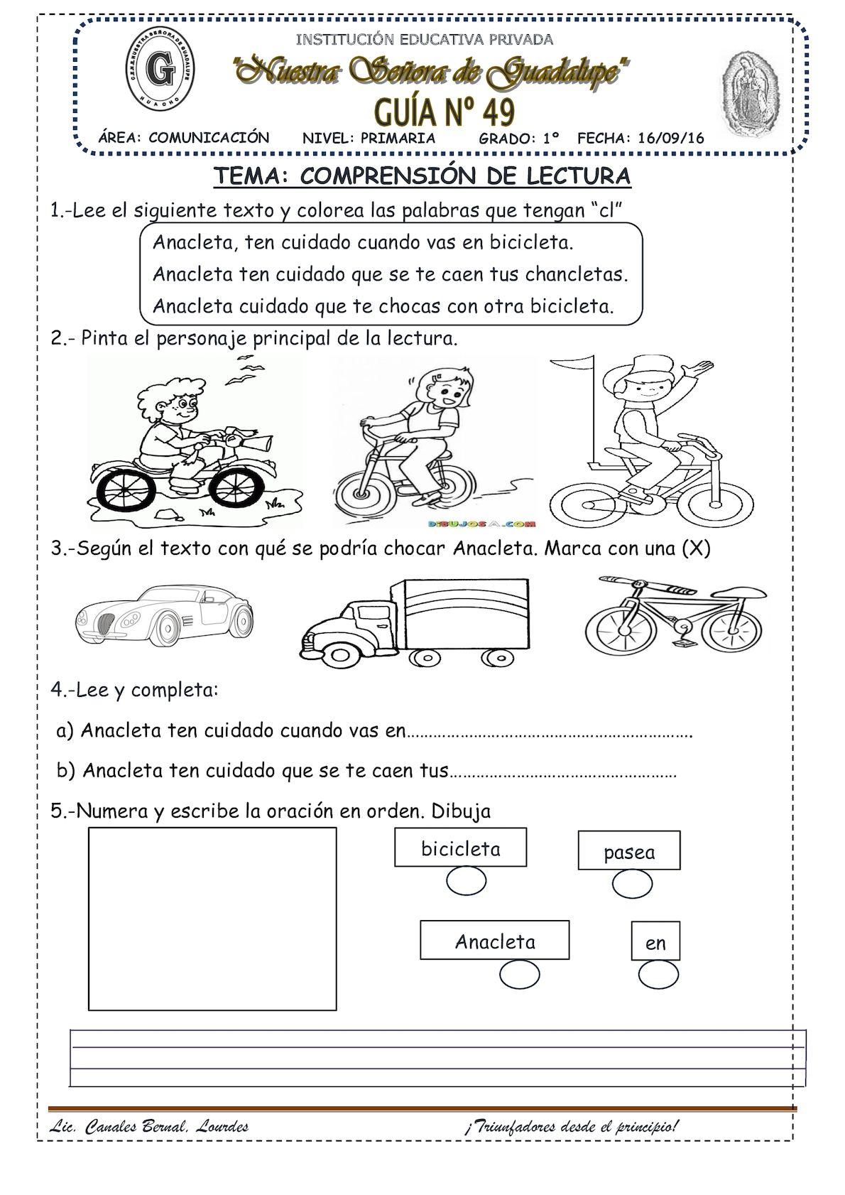 Comprensión De Lectura Cla Cle Cli Clo Clu