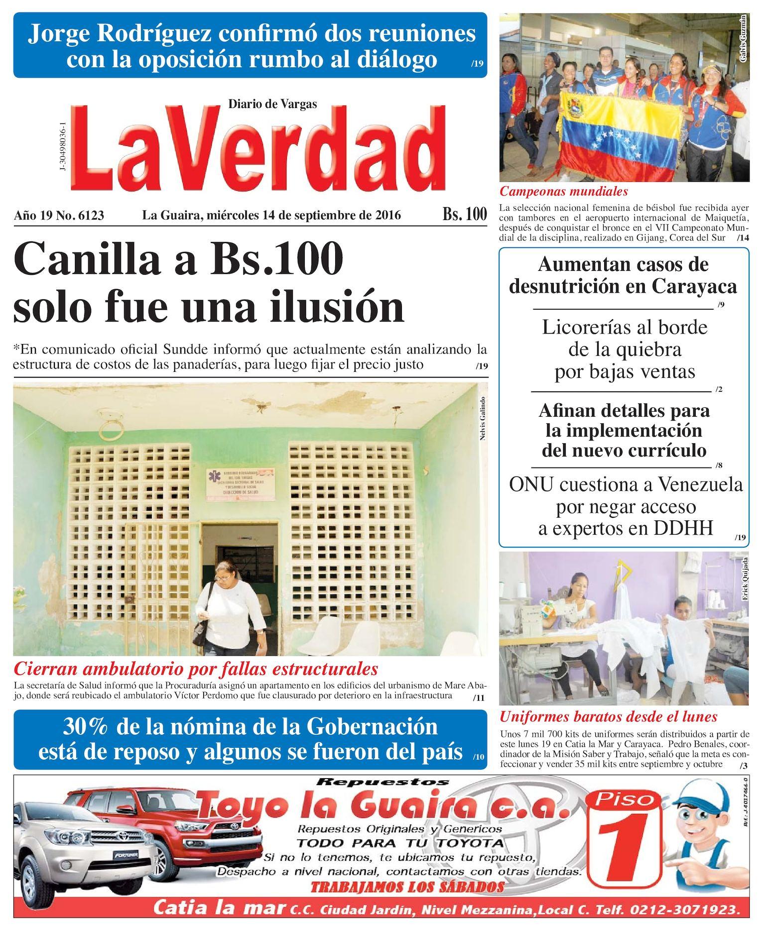 Calaméo - La Guaira, miercoles 14 de septiembre de 2016 Año 19 Nº. 6123