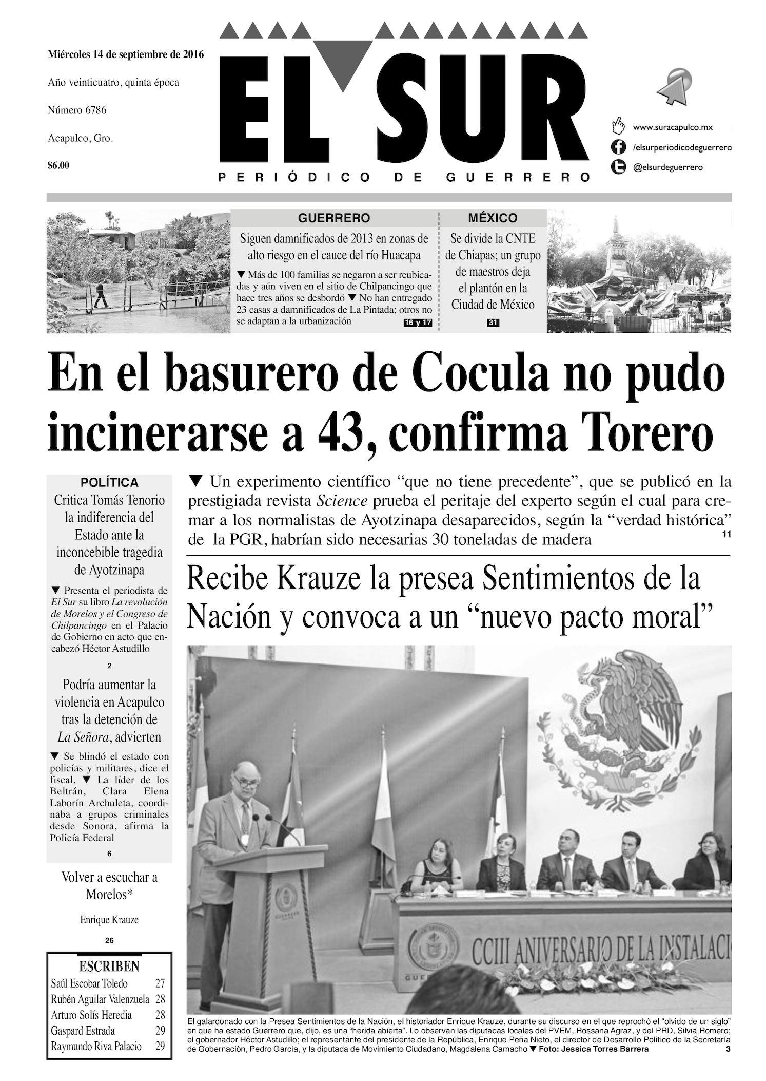 Calaméo - El Sur Miercoles 14092016