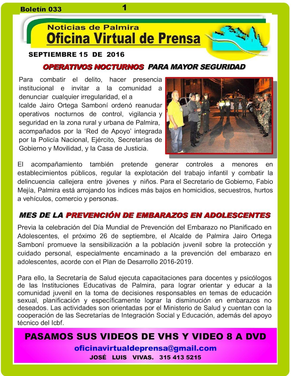Calaméo - OPERATIVOS NOCTURNOS PARA MAYOR SEGURIDAD EN PALMIRA
