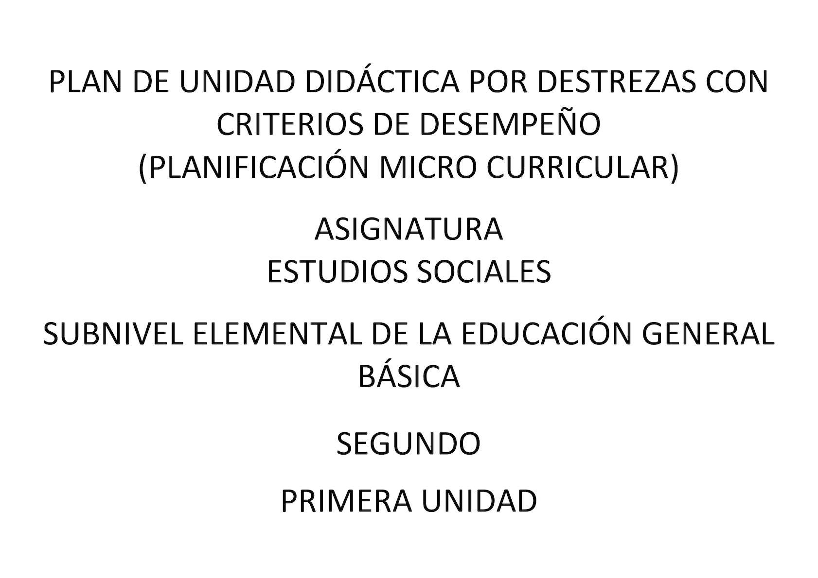 Plan De De Unidad Didàctica Es Segundo 2017