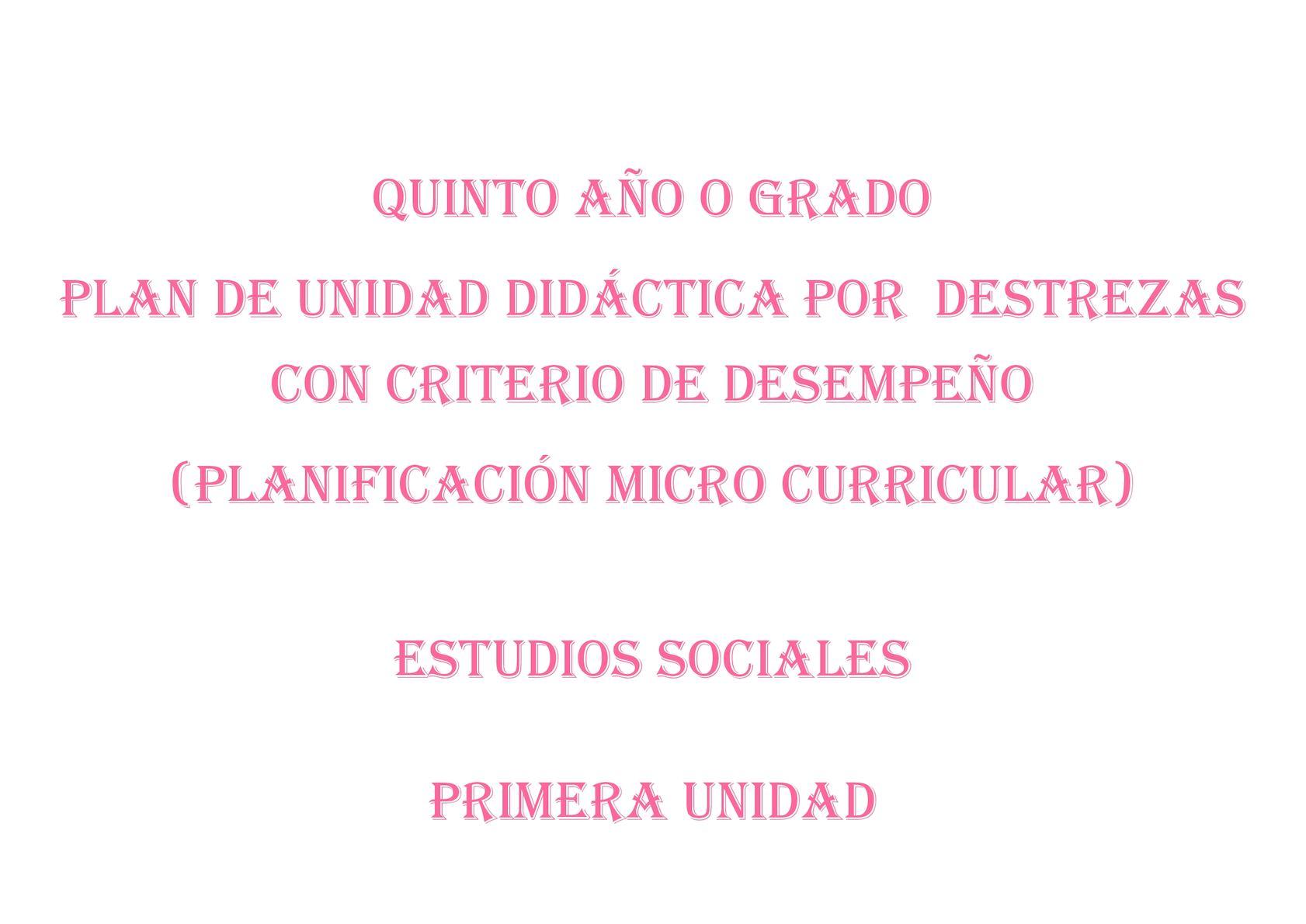 Plan De Unidad Didáctica Es Quinto 2017 (2)
