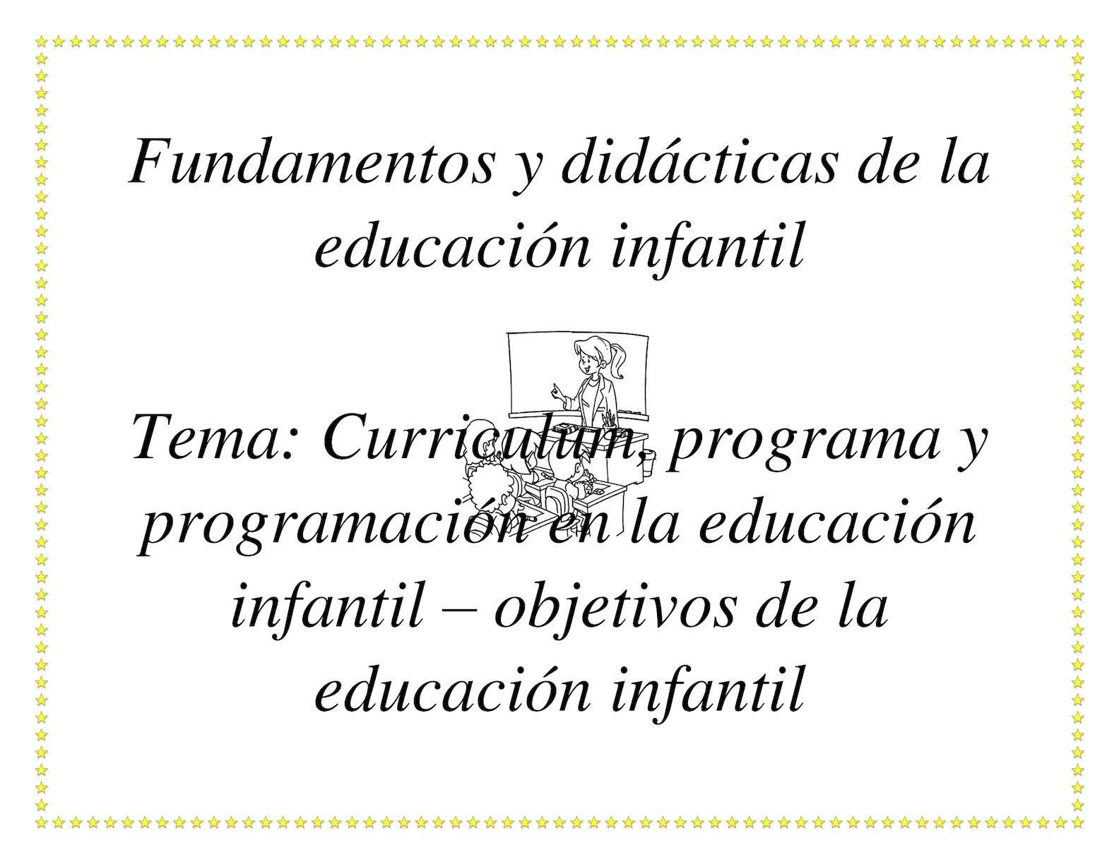 Calaméo - Fundamentos Y Didácticas De La Educación Infantil