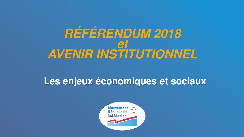 Référendum 2018 Enjeux éConomiques Et Sociaux