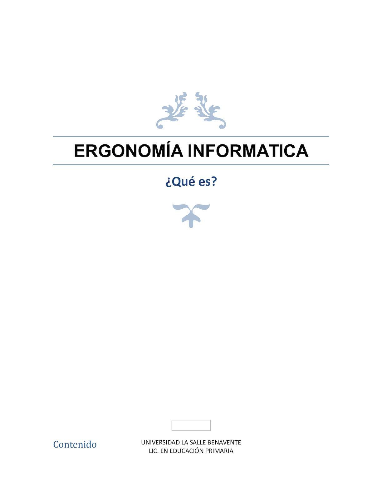 Ergonomia Informatica