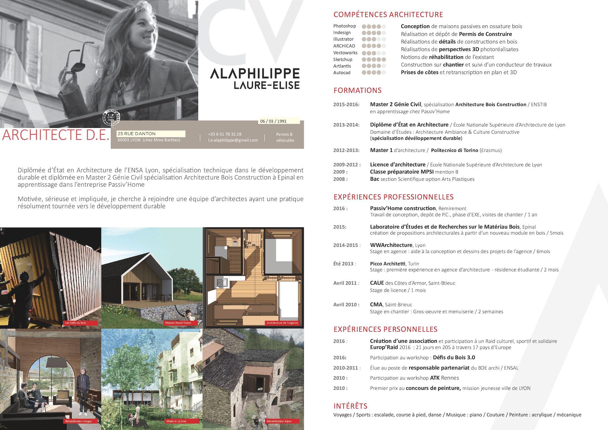 calam o cv laure elise alaphilippe. Black Bedroom Furniture Sets. Home Design Ideas