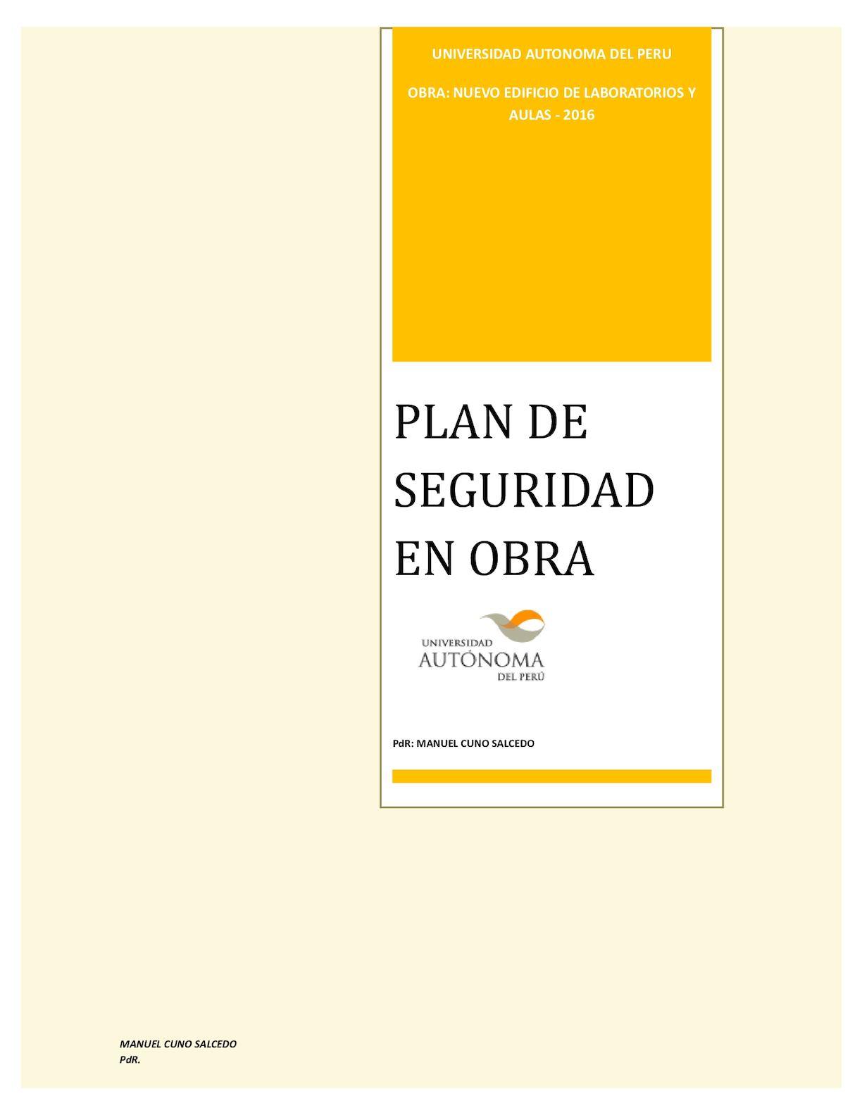 Calaméo - Plan De Seguridad Obra 2016