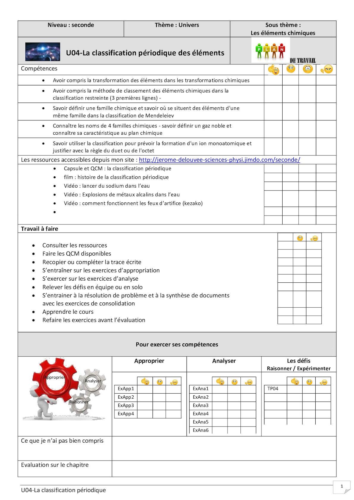 U04-La classification périodique des éléments