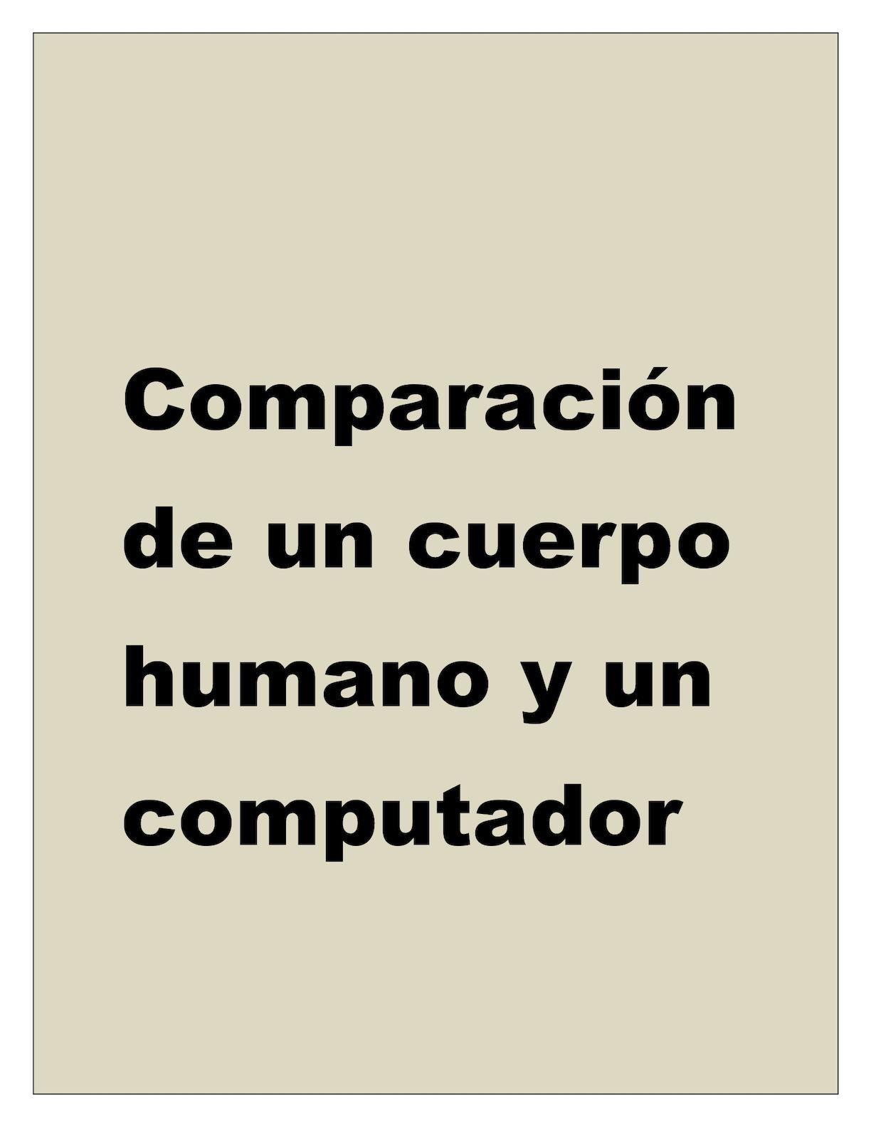 Calaméo - Comparación De Un Cuerpo Humano Y Un Computador