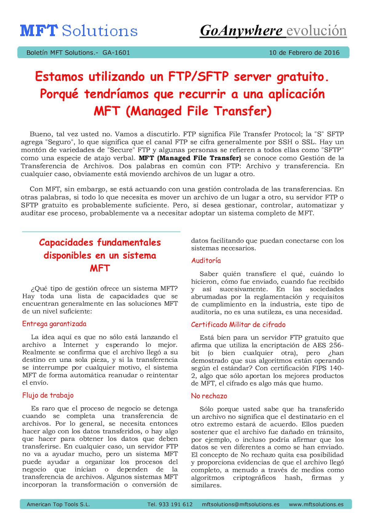 Calaméo - MFT Solutions Bulletins - GoAnywhere MFT