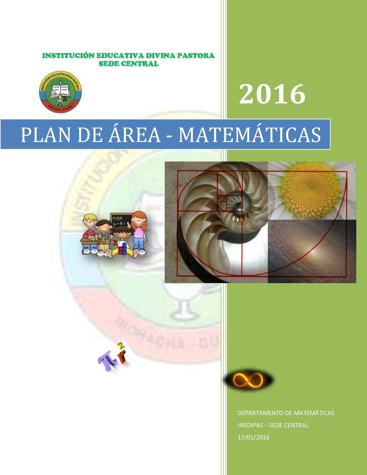 Plan De ÁRea De Matematica 2016 Octavo Y Once