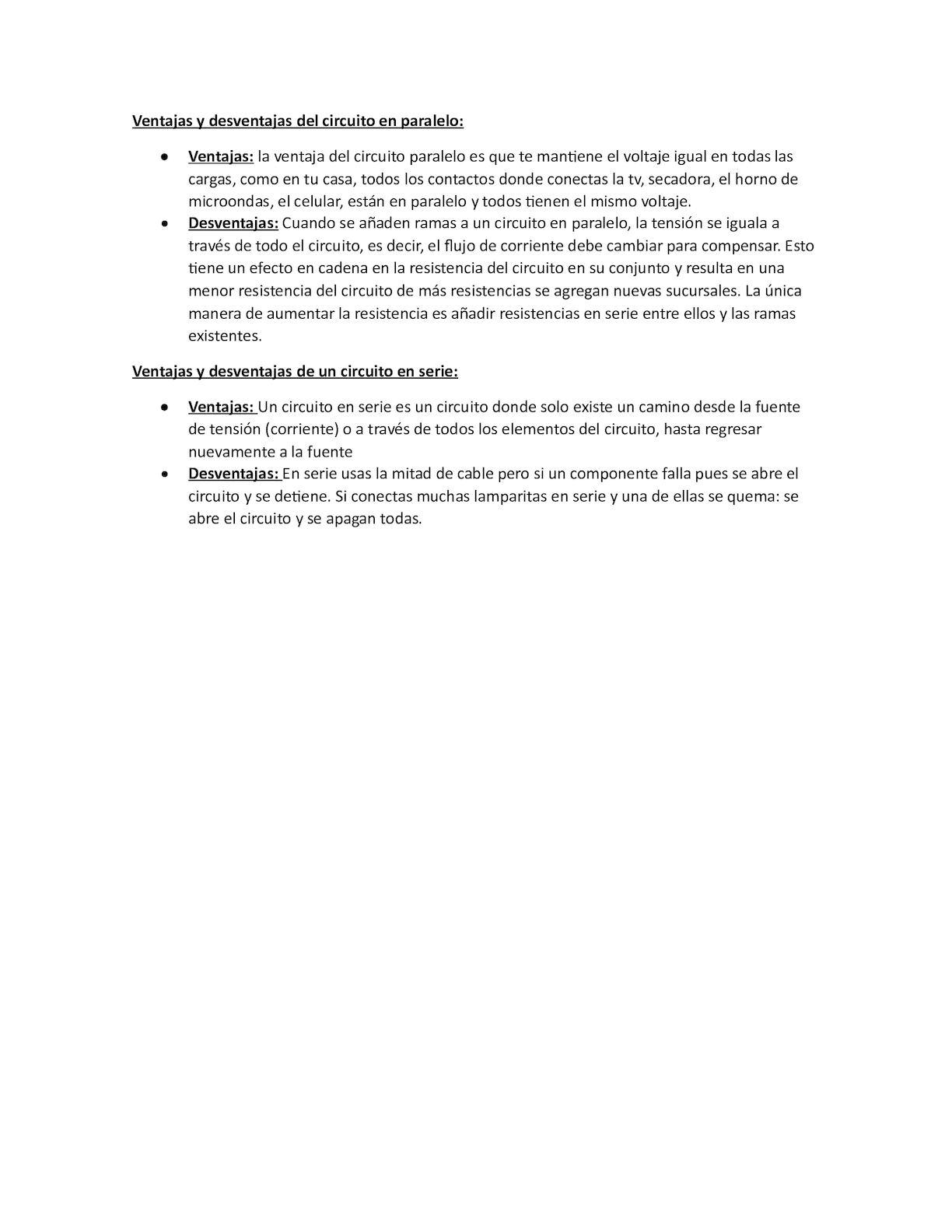Circuito Significado : Calaméo ventajas y desventajas del circuito en paralelo
