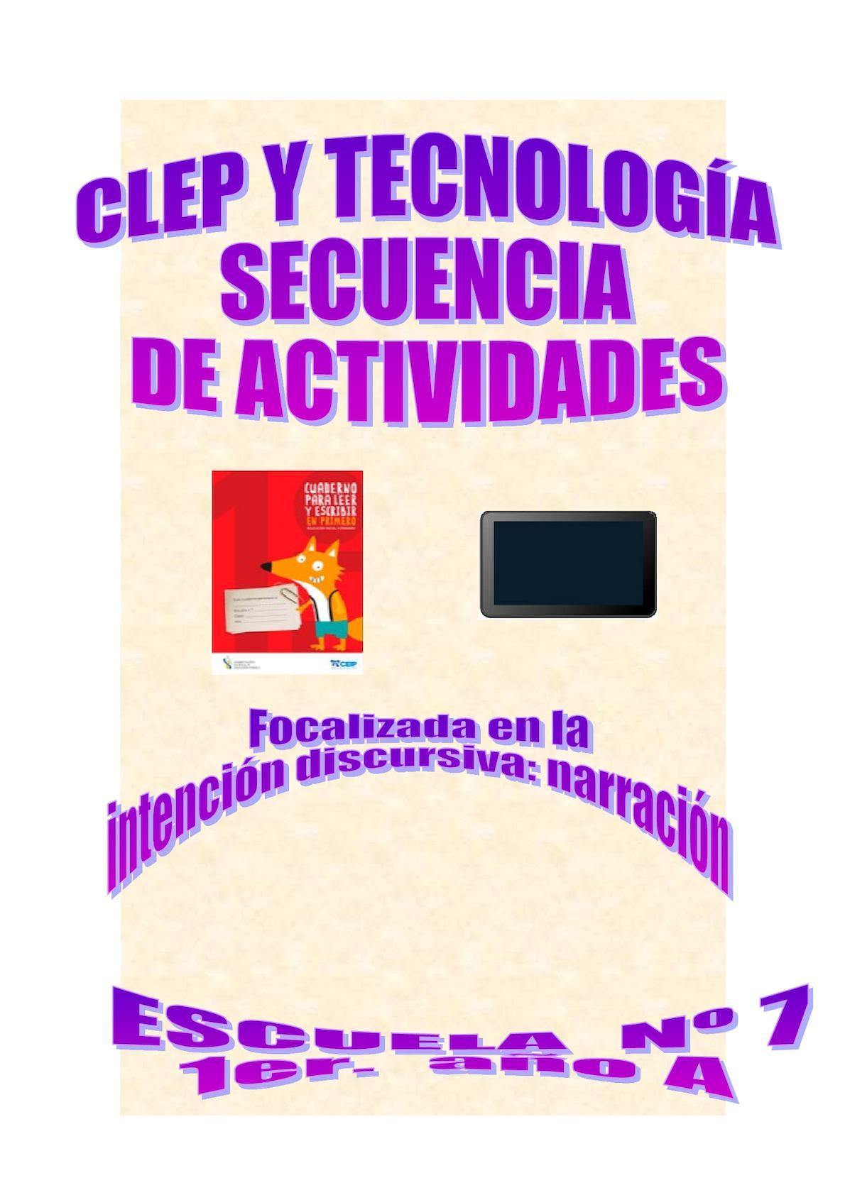 Secuencia de Actividades CLEP Y TECNOLOGÍA