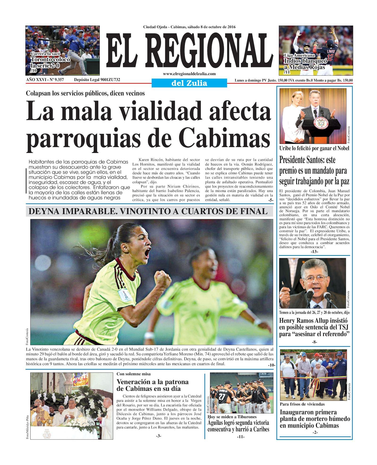 Calaméo - El Regional del Zulia 08-10-2016