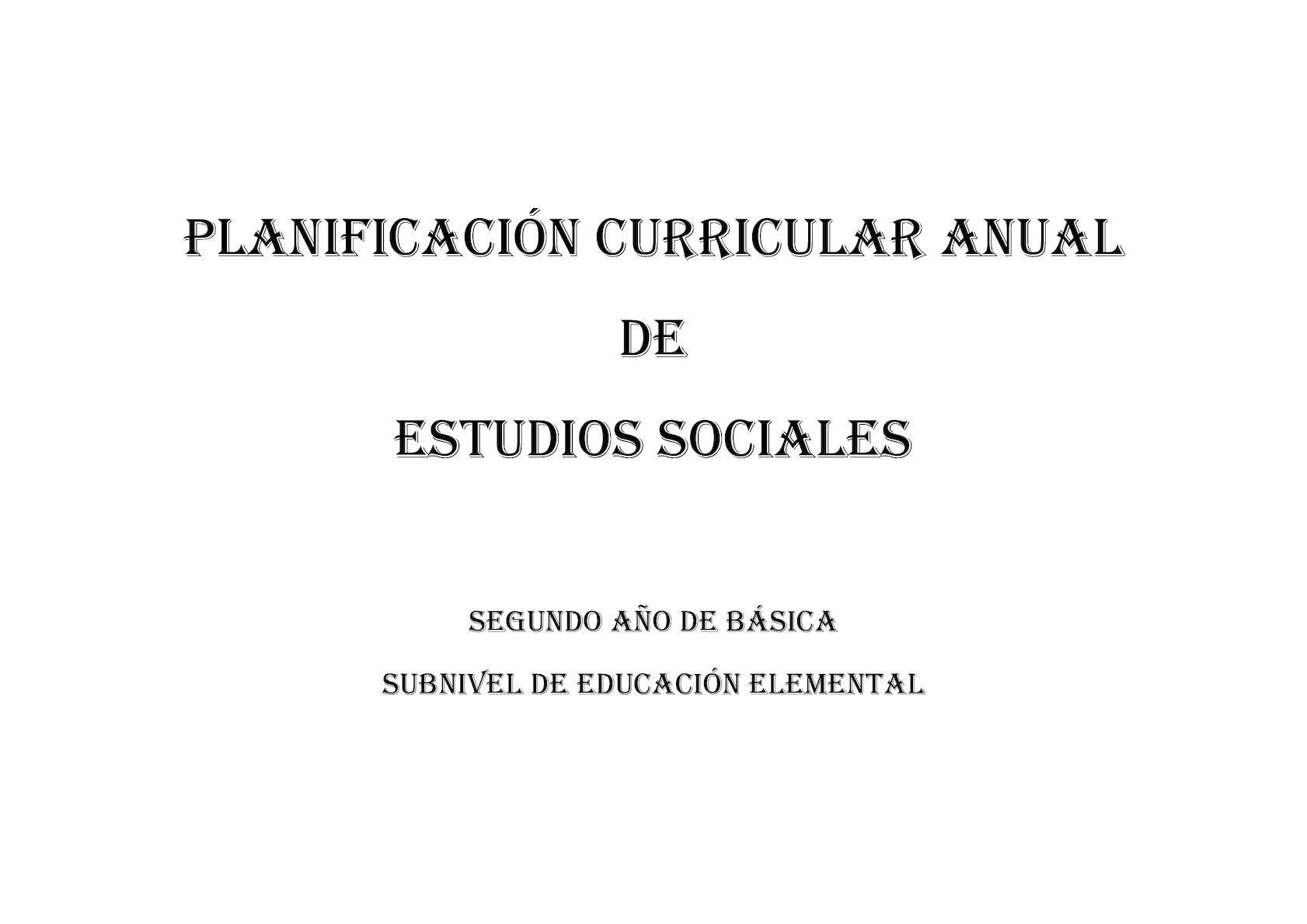 Pca Estudios Sociales Segundo