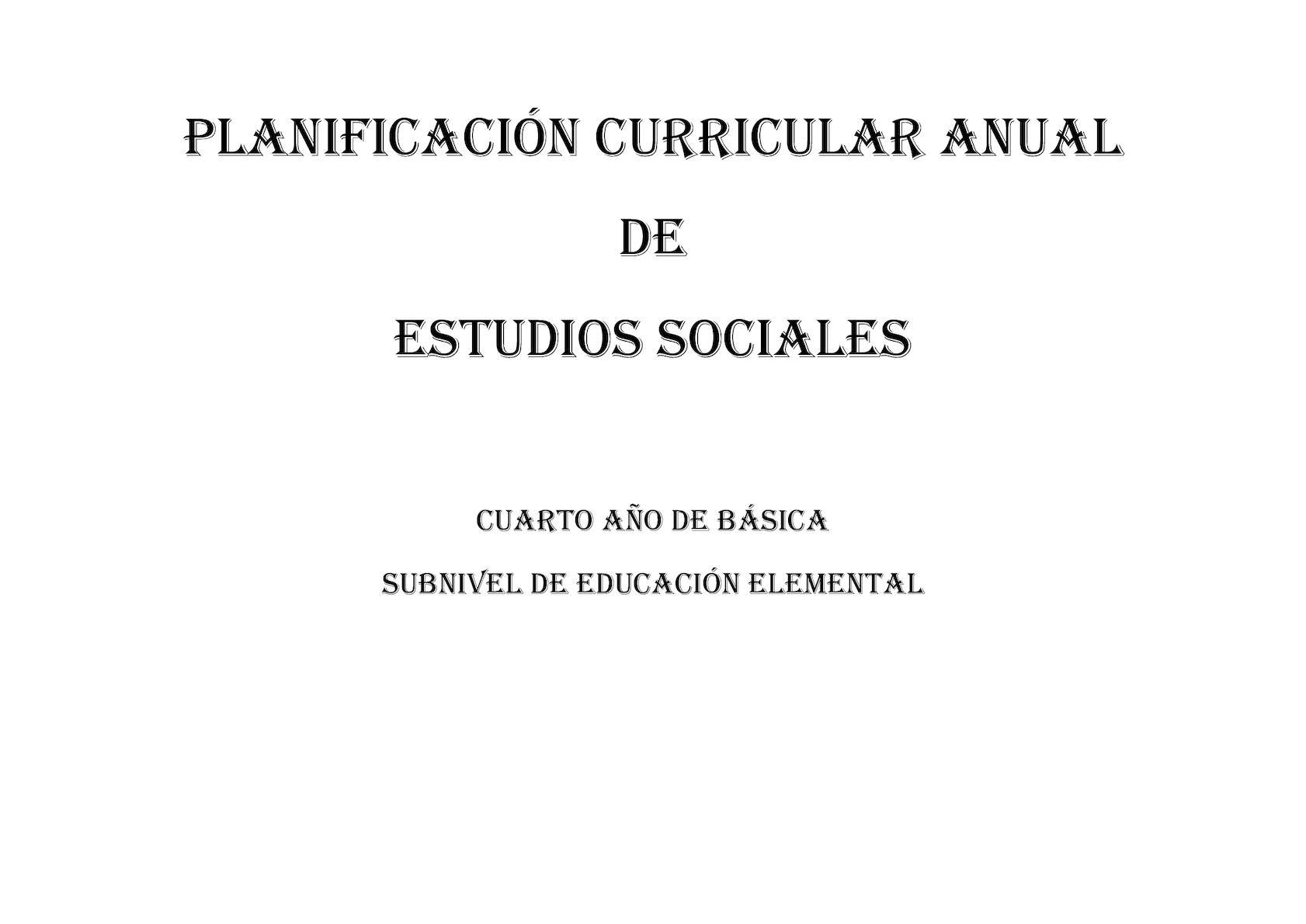 Pca Ciencias Sociales Cuarto