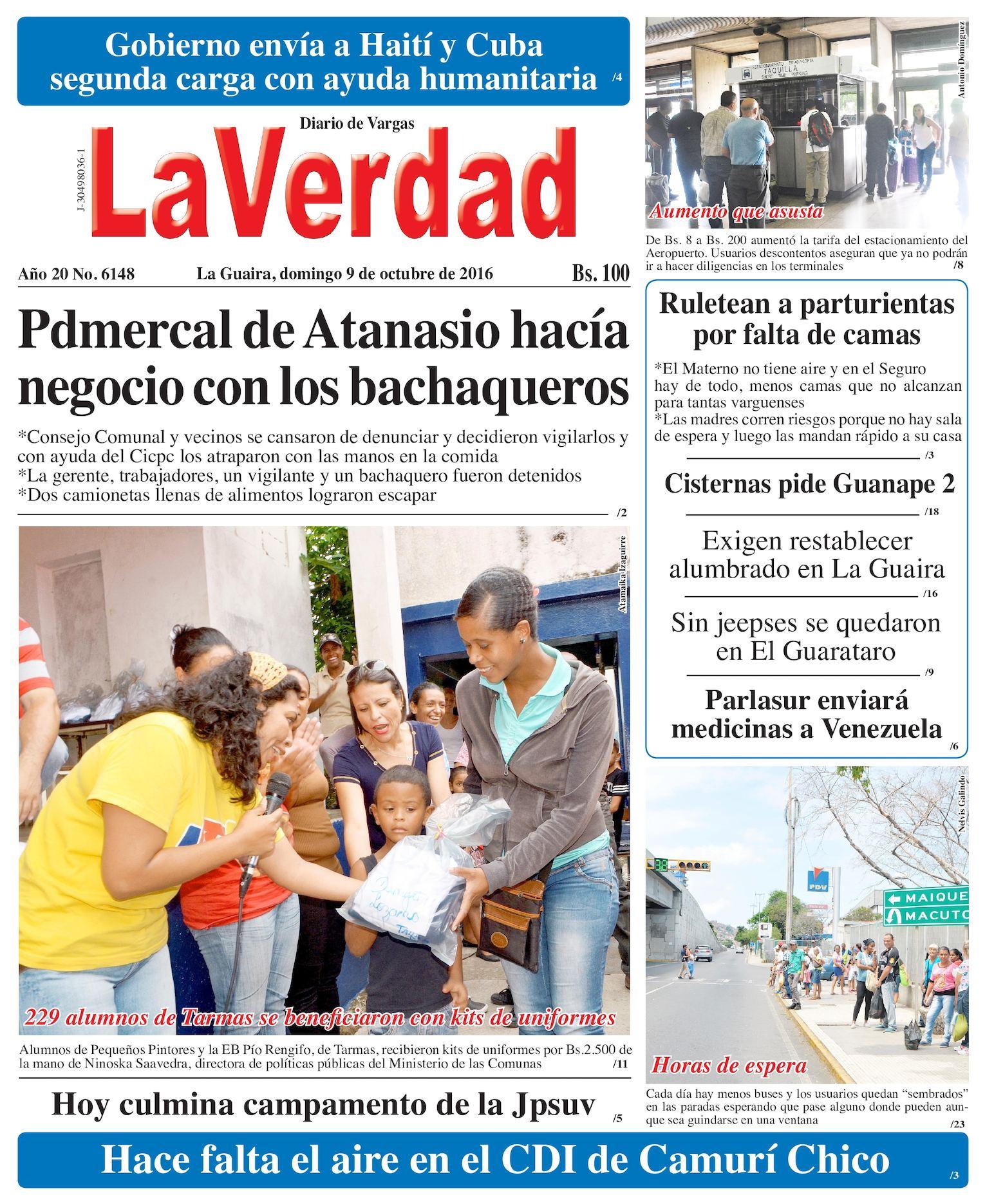 Calaméo - La Guaira, domingo 9 de octubre de 2016 Año 20 No. 6148
